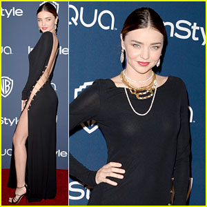 Miranda Kerr Rocks Full Body Slit at Golden Globes Party 2014
