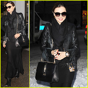 Miranda Kerr: Snowy Salon Stop in the New Year!