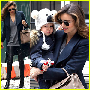 Miranda Kerr Takes Flynn to Orlando Bloom's on His 3rd Birthday