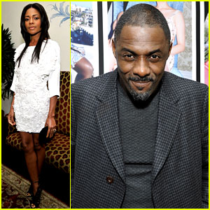 Naomie Harris & Idris Elba: 'Mandela' at Pre-Golden Globes Bash!