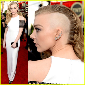 Natalie Dormer Debuts Half Shaved Head at SAG Awards 2014!