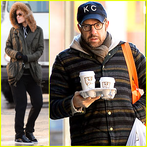 Olivia Wilde & Jason Sudeikis: Snowy NYC Coffee Couple