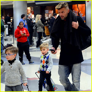 Ricky Martin Steps Out with Kids After His Breakup
