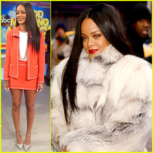 Rihanna Heats Up 'Good Morning America' on Freezing Cold Morning!