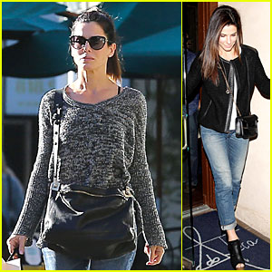 Sandra Bullock: Shopping with Mystery Man After Golden Globes