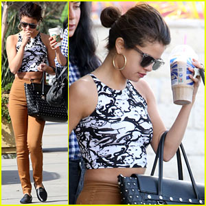 Selena Gomez Shows Off a Bit of Midriff for Slurpee Run