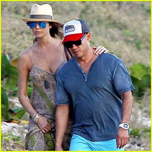 Stacy Keibler: St. Barts Stroll with Boyfriend Jared Pobre!