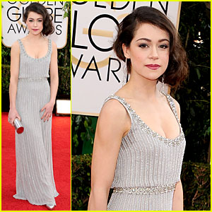 Tatiana Maslany - Golden Globes 2014 Red Carpet