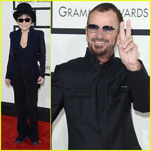 Yoko Ono & Ringo Starr - Grammys 2014 Red Carpet