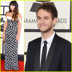 Zedd & Foxes - Grammys 2014 Red Carpet