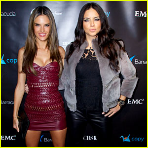 Adriana Lima & Alessandra Ambrosio Heat Up the Red Carpet at Leather & Laces Party!