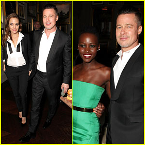 Angelina Jolie & Brad Pitt: BAFTAs After Party with Lupita Nyong'o!