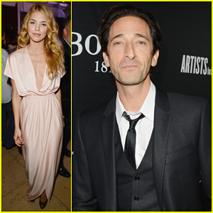 AnnaLynne McCord & Adrien Brody: Hollywood Domino Gala 2014!