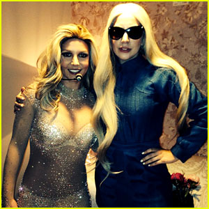 Britney Spears Greets Lady Gaga Backstage at Vegas Show!