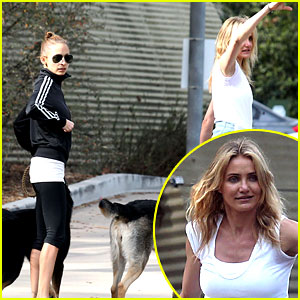 Cameron Diaz & Nicole Richie Walk Their Dogs Together!