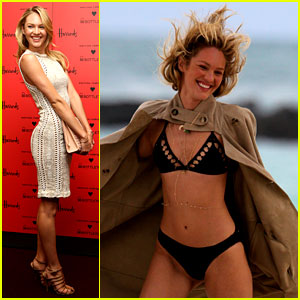 Candice Swanepoel: Bikini Shoot Before London Fashion Week!