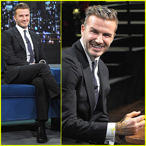 David Beckham Rocks Yolk for Egg Russian Roulette on 'Fallon'!