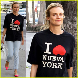 Diane Kruger is a New York City Tourist in the Wrong City!