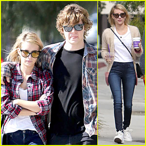 Emma Roberts Toasts 23rd Birthday with Evan Peters!