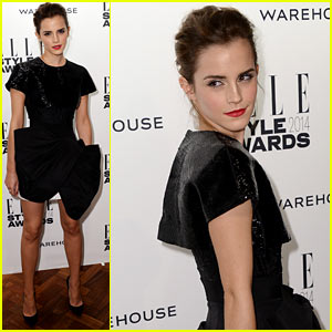 Emma Watson: Beaded Beauty at Elle Style Awards 2014