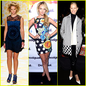 Erin Heatherton & Candice Swanepoel Walk the Runway at 'Desigual' Show!