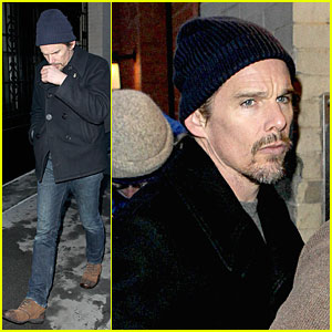 Ethan Hawke Mourns Philip Seymour Hoffman's Death with Mimi O'Donnell