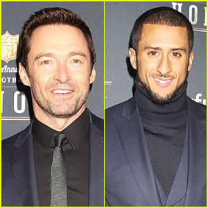 Hugh Jackman & Colin Kaepernick Suit Up NFL Honors 2014