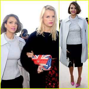 Jessica Alba Attends Nina Ricci Show with BFF Kelly Sawyer