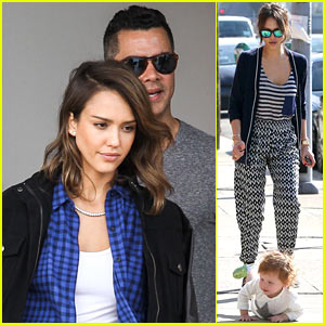 Jessica Alba Comes to the Rescue After Haven Takes a Tumble
