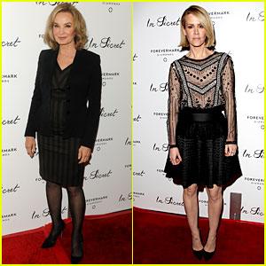 Jessica Lange & Sarah Paulson: 'In Secret' Premiere Pals!