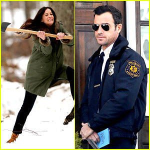 Justin Theroux Looks Mighty Fine in His Police Uniform!