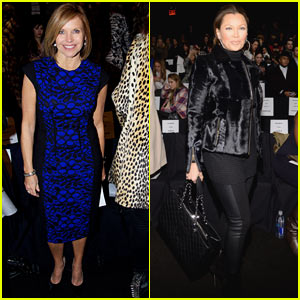 Katie Couric & Vanessa Williams: Carmen Marc Valvo Show at NYFW