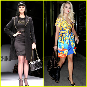 Katy Perry & Rita Ora Walk Runway in Moschino Fashion Show!