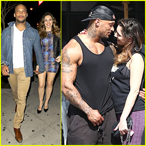 Kelly Brook & David McIntosh Hold Hands at 1 Oak Nightclub!