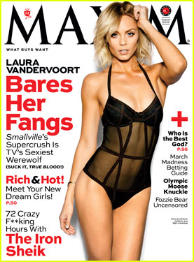 Laura Vandervoort: Sheer Sexy for 'Maxim' Magazine March 2014