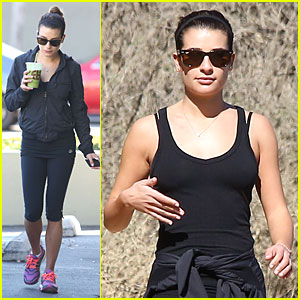 Lea Michele Starts the Week Right with a Family Hike!