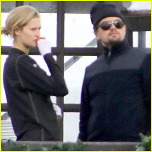Leonardo Dicaprio & Toni Garrn Vacation in the Snowy French Alps