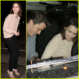 Lily Collins & Rumored Boyfriend Thomas Cocquerel: Dinner Date at Craig's!