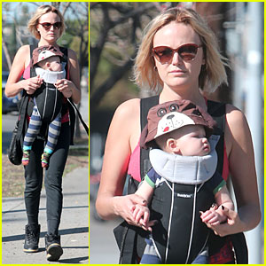Malin Akerman Sports Shorter Hair During Stroll with Sebastian!