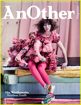 Mia Wasikowska Wears Teddy Bear on Dress for 'AnOther' Mag