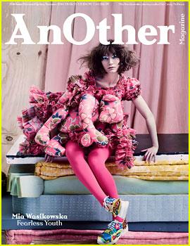Mia Wasikowska Wears Teddy Bear on Dress for 'AnOther' Mag