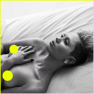 Miley Cyrus Goes Topless in Bed for 'W' Magazine Portfolio