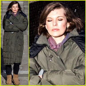 Milla Jovovich Sports Cuts on Her Face for 'Survivor' Scene
