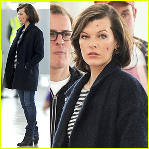 Milla Jovovich: 'Survivor' Cuts at Heathrow Airport!