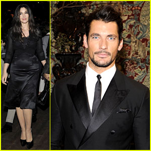 Monica Bellucci & David Gandy: Dolce&Gabbana Fashion Show!