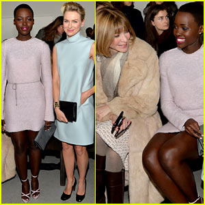 Naomi Watts & Lupita Nyong'o Are Classy & Gorgeous at Calvin Klein Collection Show