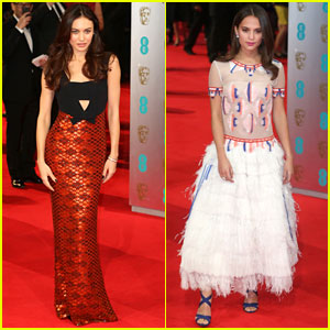 Olga Kurylenko & Alicia Vikander - BAFTAs 2014 Red Carpet