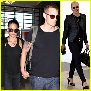 Olivia Munn Accompanies Joel Kinnaman on 'Robocop' Tour!