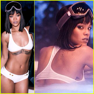 Rihanna Flaunts Bikini Body for Snowy Birthday Vacation!