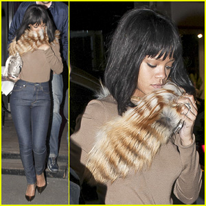 Rihanna: Paris Dinner at L'Avenue!